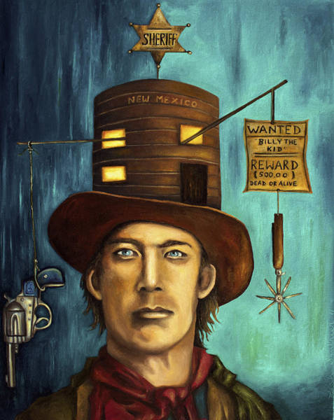 Painting - Billy The Kid by Leah Saulnier The Painting Maniac