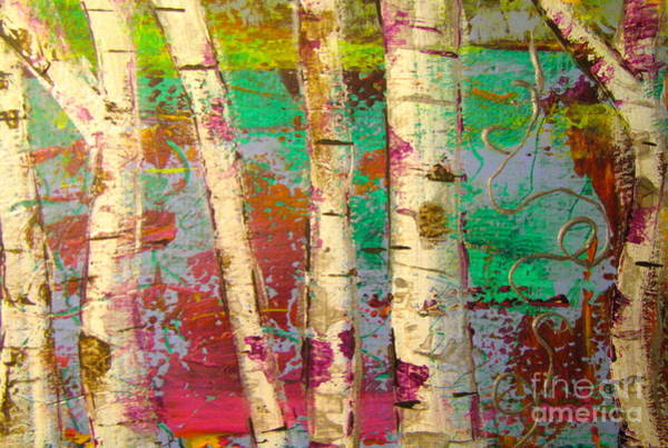 Painting - Birch 1 by Jacqueline Athmann
