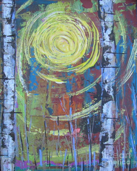 Painting - Birch 11 by Jacqueline Athmann