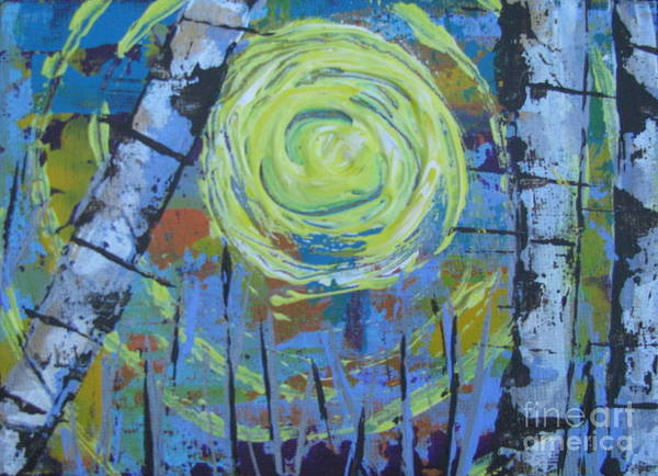 Painting - Birch 12 by Jacqueline Athmann