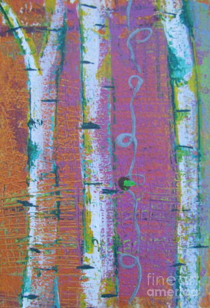 Painting - Birch 3 by Jacqueline Athmann