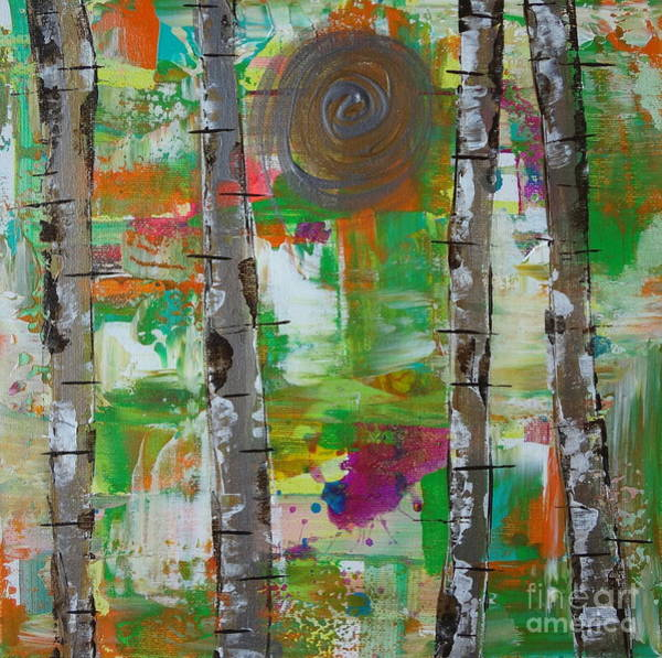 Painting - Birch 4 by Jacqueline Athmann