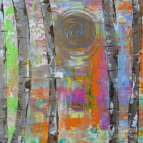 Painting - Birch 5 by Jacqueline Athmann