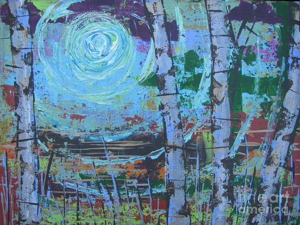 Painting - Birch 9 by Jacqueline Athmann