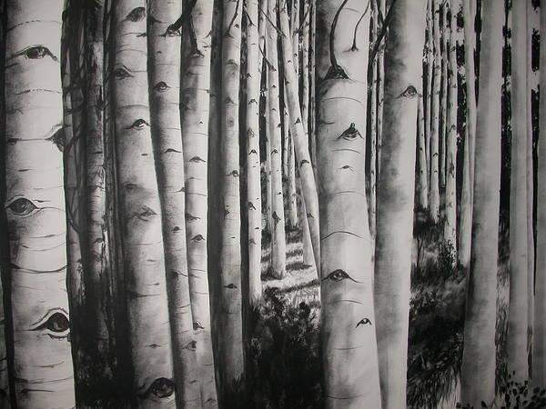Painting - Birch by Scott Robinson