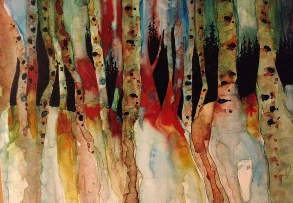 Wall Art - Painting - Birches In Caswell by Candyce Hoskins