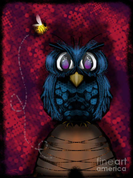 Beehive Digital Art - Bird And A Bee by J Kinion