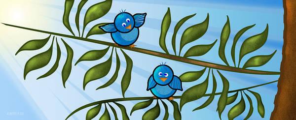 Wall Art - Digital Art - Bird Branch by Melisa Meyers