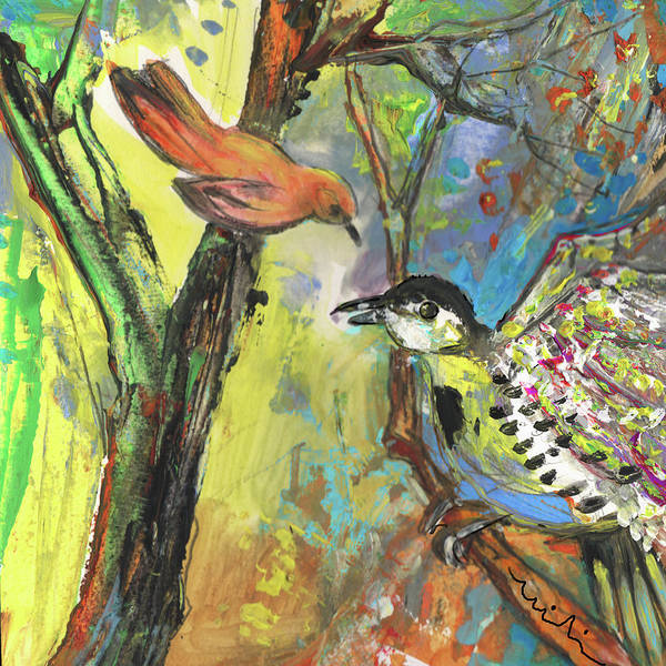 Painting - Birds 03 by Miki De Goodaboom