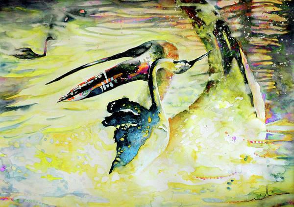 Painting - Birds Love Dance by Miki De Goodaboom