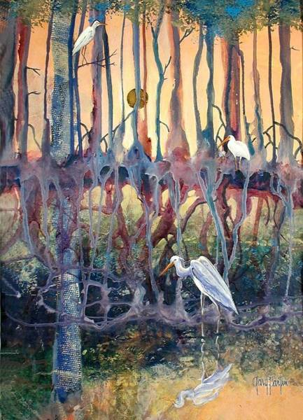 Painting - Birds Of The Water by Gary Partin
