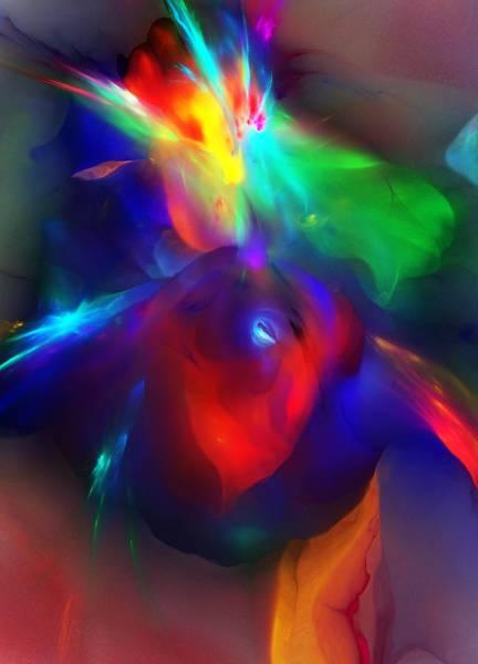 Cosmology Digital Art - Birth Of Matter by David Lane