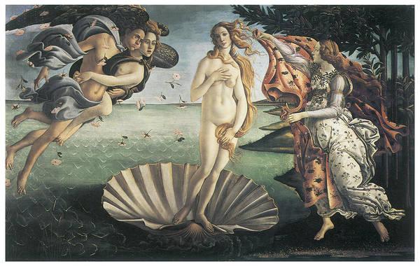 Botticelli Wall Art - Painting - Birth Of Venus by Sandro Botticelli