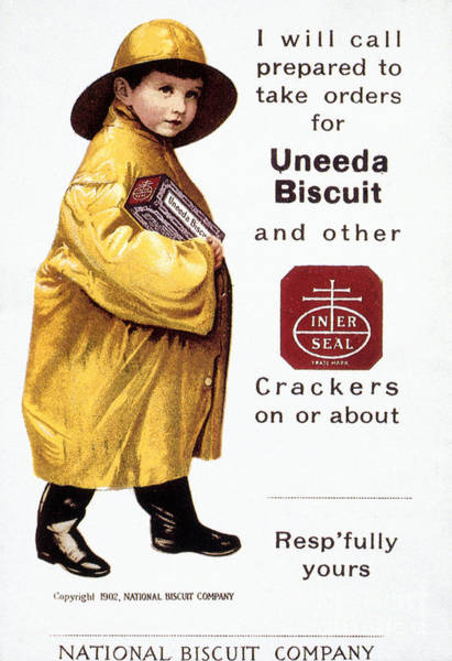 Nabisco Photograph - Biscuit & Cracker Ad by Granger