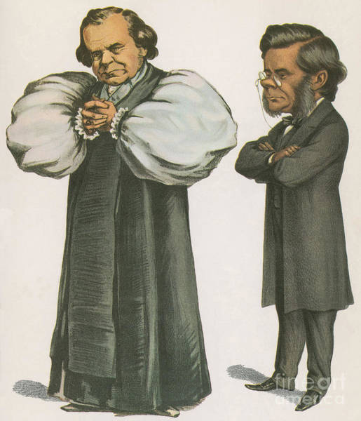 Public Speaker Photograph - Bishop Wilberforce And Thomas Huxley by Science Source