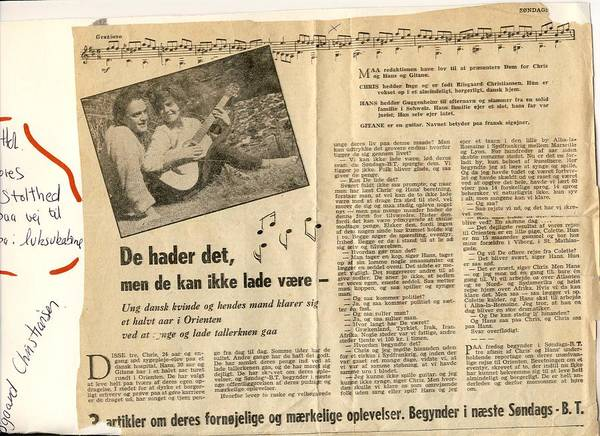 Photograph - Bits From Danish Article From The Fifties by Colette V Hera  Guggenheim