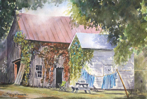 Clothesline Painting - Bittersweet by Kathy Nesseth