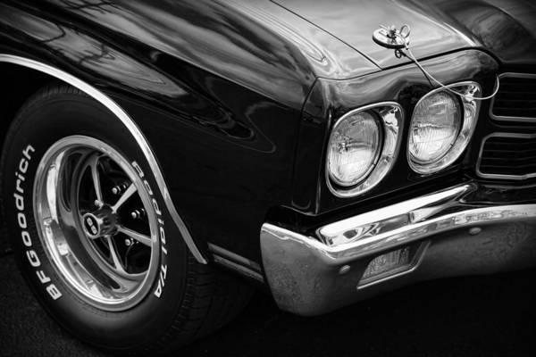 Wall Art - Photograph - Black 1970 Chevelle Ss 396  by Gordon Dean II