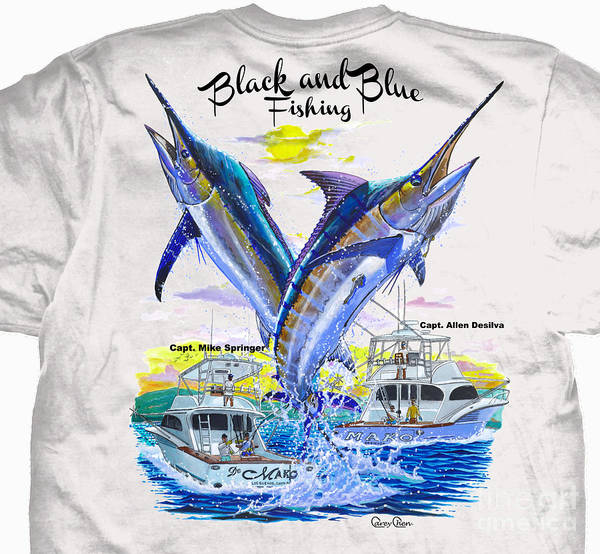 Blue Marlin Photograph - Black And Blue Shirt by Carey Chen