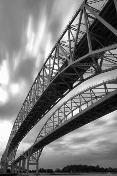 Wall Art - Photograph - Black And White Blue Water Bridge by Gordon Dean II