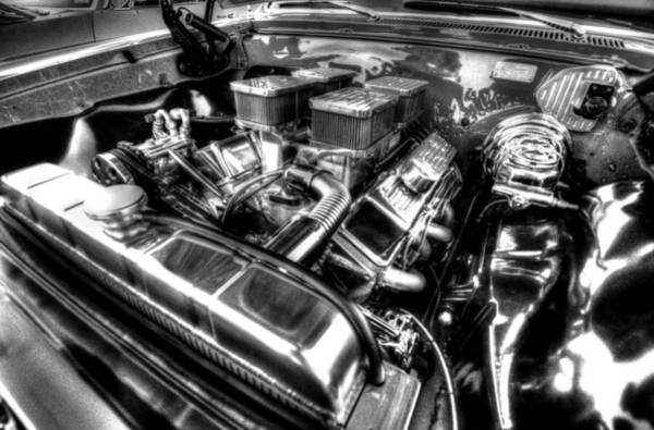 Photograph - Black And White Engine by David Morefield