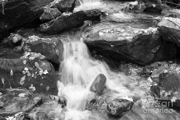 Photograph - Black And White Mini Waterfall by Michael Waters