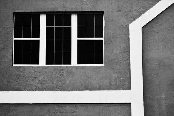Black And White Side Of Building  Art Print by Anya Brewley schultheiss
