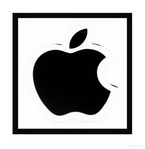 The Mac Wall Art - Photograph - Black Apple by Rob Hans