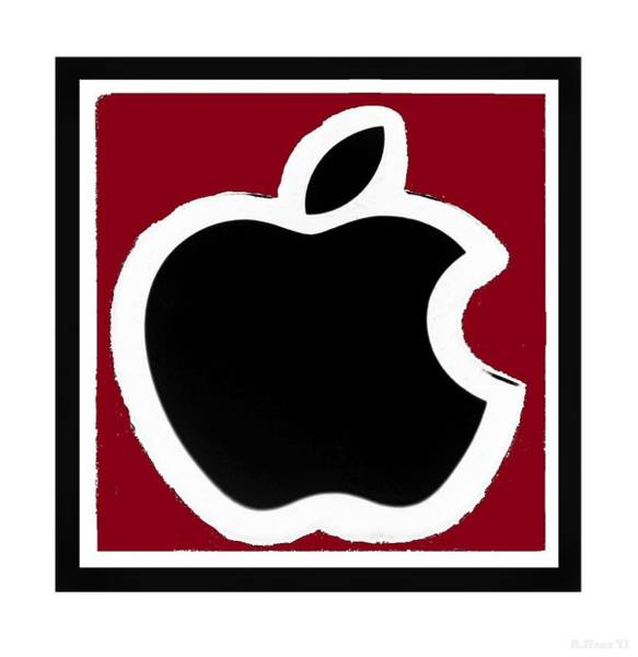 The Mac Wall Art - Photograph - Black Apple With Red by Rob Hans