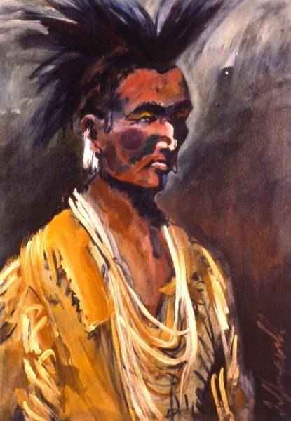 Painting - Black Hawk by Les Leffingwell