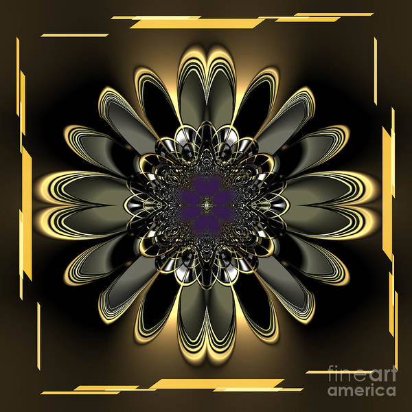 Orchid Mixed Media - Black Orchid Abstract by Heinz G Mielke