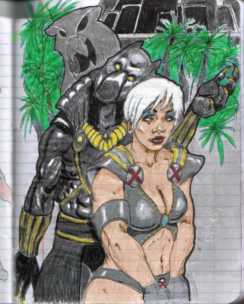 Black Panther Mixed Media - Black Panther And Storm by Earl Johnson