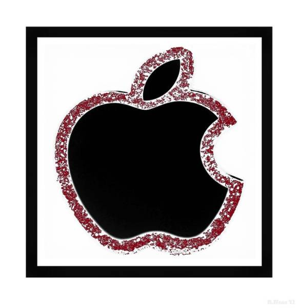 The Mac Wall Art - Photograph - Black Red Apple by Rob Hans