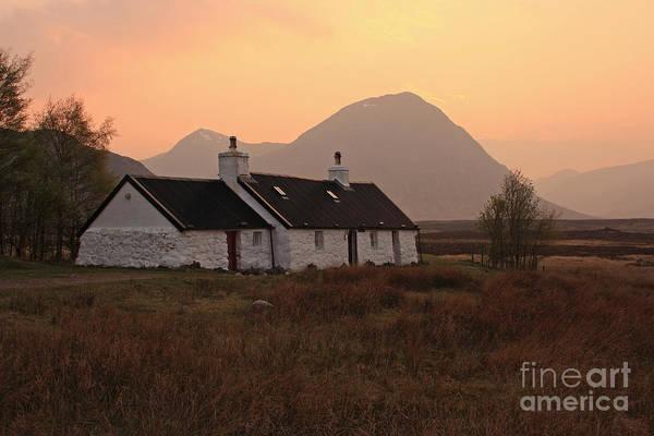 Black Rock Cottage Sunset Art Print