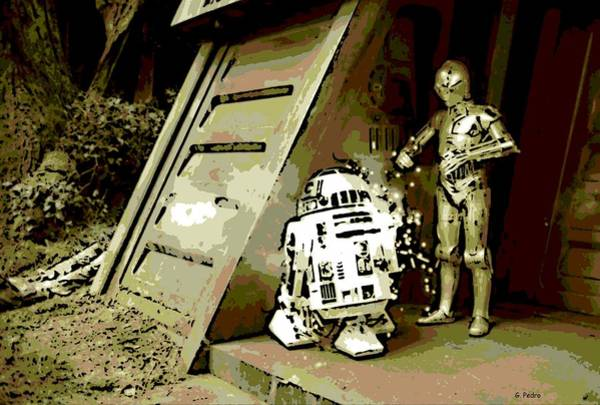 C3po Photograph - Blasted On Endor by George Pedro