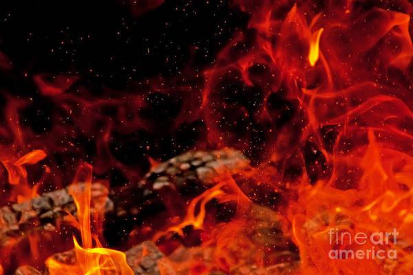 Photograph - Blaze With Sparks by Rachel Duchesne