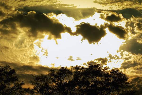 Rader Photograph - Blinding Golden Sunset by Kelly Rader