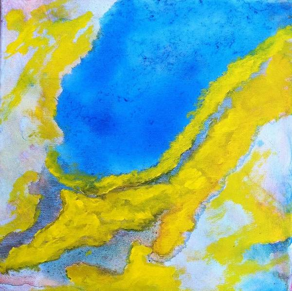 Painting - Bliss In Yellow 4 by Bebe Brookman