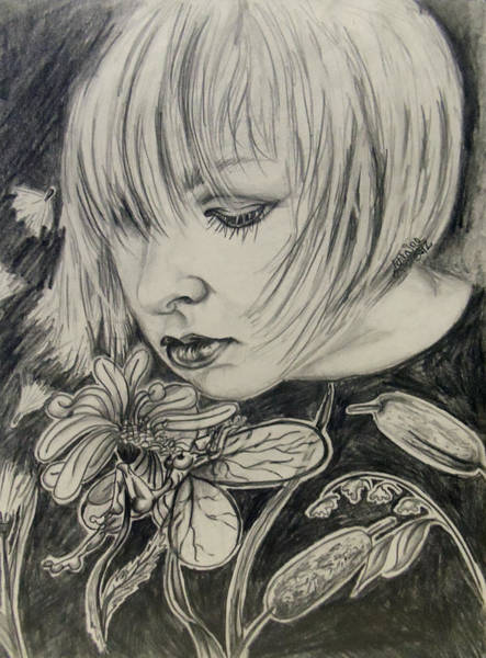 Wall Art - Drawing - Bliss by Lorraine Davis Martin