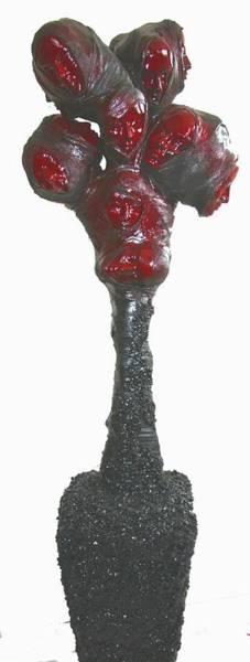 Wall Art - Sculpture - Blood On Their Hands by Karen Elzinga
