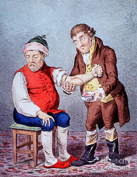 Photograph - Bloodletting-1804 by Science Source