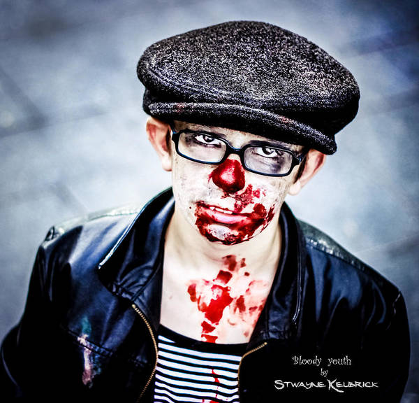 People Wall Art - Photograph - Bloody Youth by Stwayne Keubrick