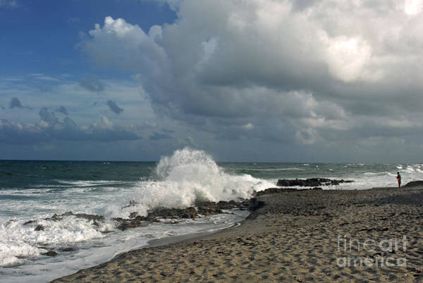 Photograph - Blowing Rocks At Coral Cove by Richard Nickson
