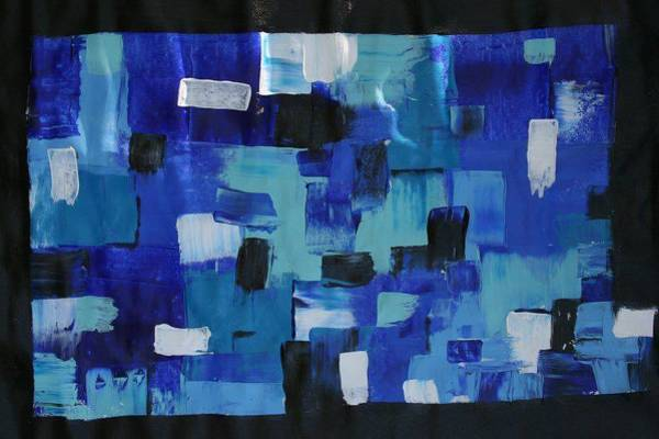 James Johnson Painting - Blue Abstract 1 by James Johnson
