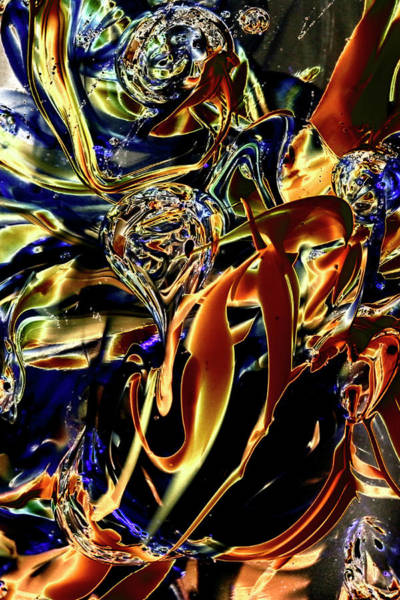 Digital Art - Blue And Gold Illusions by David Patterson