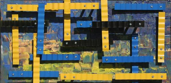 James Johnson Wall Art - Sculpture - Blue And Yellow by James Johnson
