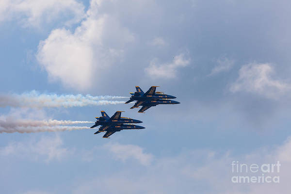 Photograph - Blue Angel Flyby by Susan Cole Kelly