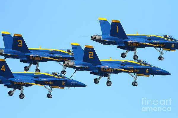 Photograph - Blue Angels F-18 Super Hornet . 7d7990 by Wingsdomain Art and Photography