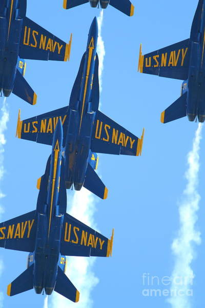 Photograph - Blue Angels F-18 Super Hornet . 7d8036 by Wingsdomain Art and Photography