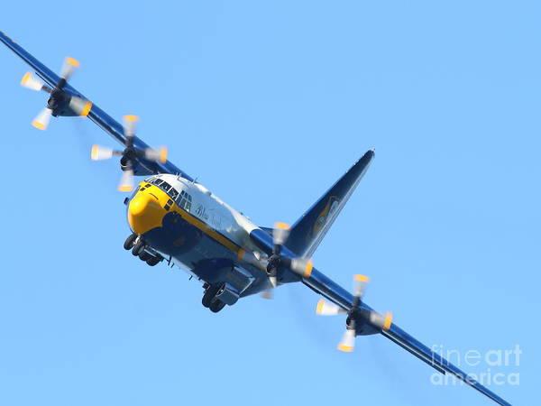 Photograph - Blue Angels Fat Albert C130t Hercules . 7d7912 by Wingsdomain Art and Photography